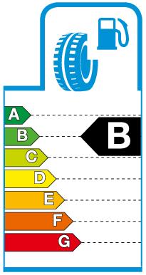 Label B.png Brandstofverbruik / rolweerstand