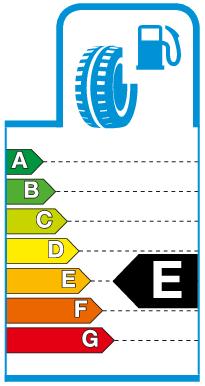 Label E.png Brandstofverbruik / rolweerstand