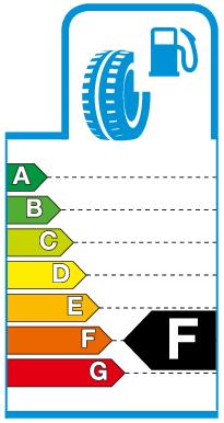 Label F.png Brandstofverbruik / rolweerstand