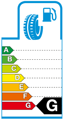 Label G.png Brandstofverbruik / rolweerstand