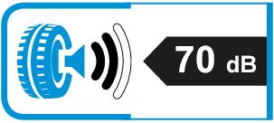 Extern rolgeluid / geluidsemissie: 70dB