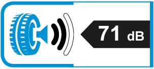 Extern rolgeluid / geluidsemissie: 71dB