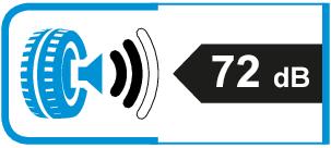 Extern rolgeluid / geluidsemissie: 72dB