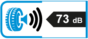 Extern rolgeluid / geluidsemissie: 73dB
