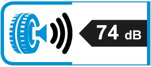 Extern rolgeluid / geluidsemissie: 74dB