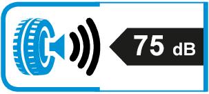Extern rolgeluid / geluidsemissie: 75dB